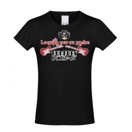 Camiseta de bunbury niña manga corta Loquita