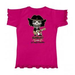 Camiseta de bunbury niña manga corta CALAVERA