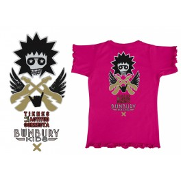 Camiseta de bunbury niña manga corta Actitud correcta
