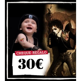 Cheque regalo 30 euros